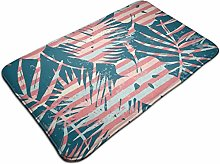Exotic Pattern With Tropical Plants And Stripes