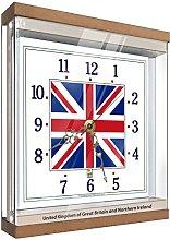 Exotic Yellow Flag Clock United Kingdom FCUP4