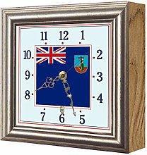 Exotic Yellow Ltd. Flag Clock Montserrat FCM20