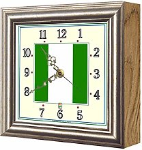 Exotic Yellow Ltd. Flag Clock Nigeria FCN10