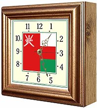 Exotic Yellow Ltd. Flag Clock Oman FCO1