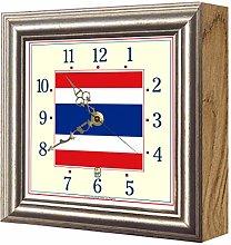 Exotic Yellow Ltd. Flag Clock Thailand FCT4