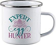 Expert Egg Funny Campfire Enamel Mug Easter Eggs