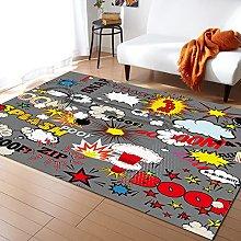 Explosion Pattern Carpet for Living Room Home