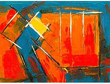 Expressionism Abstract Painting Acrylic Art Print