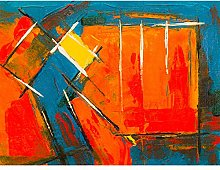 Expressionism Abstract Painting Acrylic Large Wall
