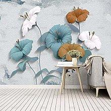 Exquisite European 3D Jewelry Flower Wallpaper
