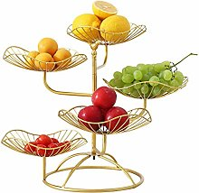 Exquisite Fruit Plate Five-Layer Lotus Leaf Tray,