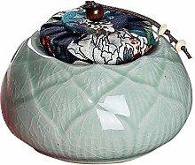 Exquisite Oriental Ceramic Food Storage Jar