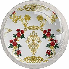 Exquisite Pattern Kitchen Cabinet Knobs Round Home