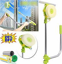 Extendable Window Squeegee with Rotating Head,