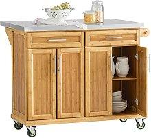 Extendable Worktop Kitchen Trolley Island Storage