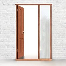 Exterior Door Frame with side glass aperture, Made