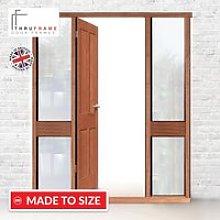 Exterior Door Frame with side glass apertures,