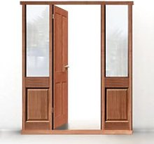 Exterior Door Frame with side glass apertures,