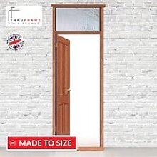 Exterior Door Frame with Transom Rail, Suits a