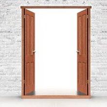 Exterior LPD Hardwood Door Frames for Double Doors