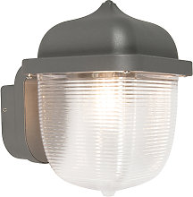 Exterior wall light anthracite IP44 - Trans