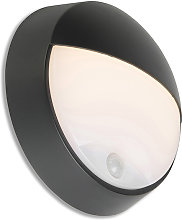 Exterior wall light black incl. LED with motion
