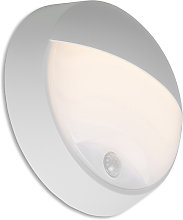 Exterior wall light gray incl. LED with motion