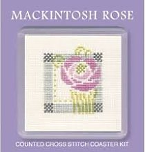 extile heritage mackintosh rose counted cross