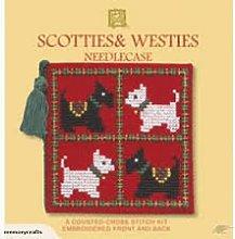 extile heritage scotties and westies needlecase