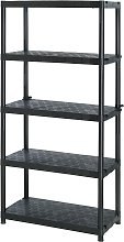 Extra Heavy Duty 5 Tier Plastic Garage Shelving