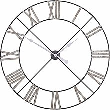 Extra Large 110cm Vintage Metal Wall Clock