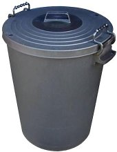Extra Large 110L Litre Black Plastic Rodent Proof