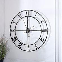 Extra Large Antique Brass Skeleton Clock