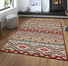 Extra Large Area Rugs For Living Room, Retro Blue