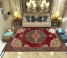 Extra Large Area Rugs For Living Room, Retro Red