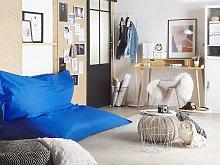 Extra Large Bean Bag Blue Lounger Zip Giant Beanbag