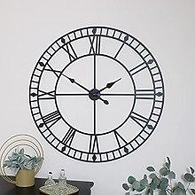 Extra Large Black Metal Skeleton Clock 100cm x