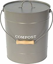 Extra Large Charcoal Grey Metal Kitchen Compost