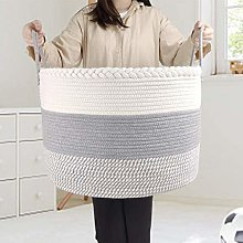 Extra Large Cotton Rope Basket, Laundry Basket