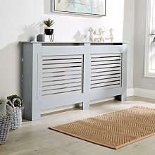 Extra Large Grey Radiator Cover Wooden MDF Wall