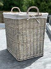 Extra Large Log Basket Storage Basket With Handles