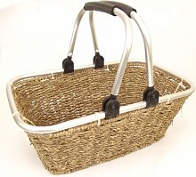EXTRA LARGE Seagrass Wicker Hamper Shopping Basket