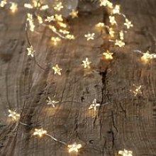 Extra-Large Star Fairy Lights – 80 Bulbs, Clear,