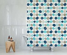 Extra long and wide fabric shower curtain, 240cm