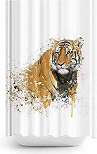 Extra Long Digital Print Fabric Shower Curtain -