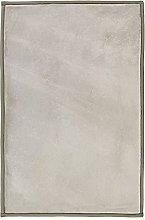Extra Soft Velour Look Rug 120 x 170 cm Ecru