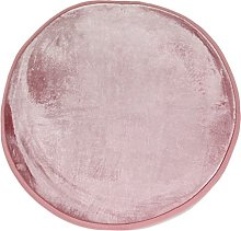 Extra Soft Velour Look Rug 70cm Diameter Pink
