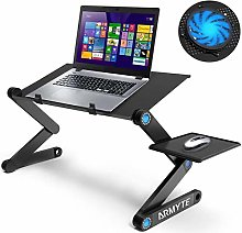 Extra Wide Adjustable Laptop Stand Desk with