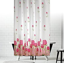 Extra Wide and Long Fabric Shower Curtain with
