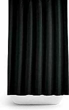 Extra Wide Bespoke Size Black Fabric Shower