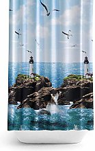Extra Wide Bespoke Size Fabric Shower Curtain