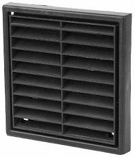 Extractor Fan Wall Soffit Black Fixed Louvre Grill
