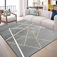 Extreme simple line geometry Fluffy Rug for the
